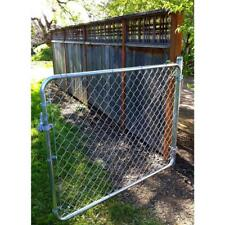 Heavy Duty Steel Adjustable Gate Walk-Through Chain Link Dog Fence 6ft x 4ft