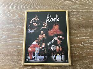 The Rock Dwayne Johnson WWF Vintage Framed 8X10 Photo Wrestling Montage