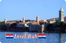 Kühlschrankmagnet,Magnetschild,Magnet-Motiv:Insel Rab I (Kroatien)