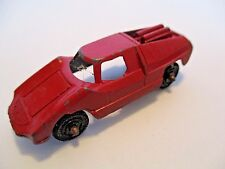 """Vintage Diecast Red Fiat TOOTSIE TOY Abarth Car Coupe:Made in USA 2 1/2"""" Long"""