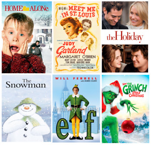 CHRISTMAS MOVIES films vintage old and new carol santa print/poster A4/A3