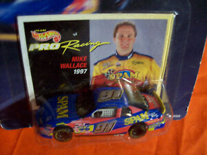 SPAM #91 MIKE WALLACE 1/64 SCALE NASCAR HOT WHEELS RACING SUPER SPEEDWAY 1997