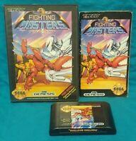 FIGHTING MASTERS CIB Sega Genesis Working Box, Cover Art, Manual, Game