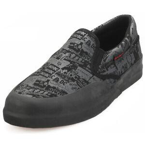DC Shoes Infinite Slp AC/DC Kids Black Slip On Shoes - 4.5 UK