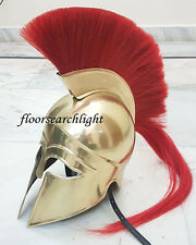 MEDIEVAL GREEK CORINTHIAN HELMET W/ RED PLUME ROMAN CRUSADER KNIGHT ARMOR HELM