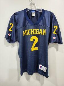 Rare VTG Champion Michigan Wolverines Charles Woodson 2 Football Jersey Youth L