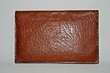 Real Vintage Woman's Man Wallet Dark Brown 100% Natural Leather Foto Bifold Foto
