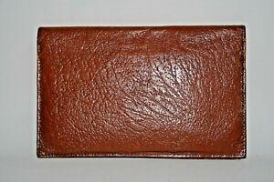 Real Vintage Woman's Man Wallet Dark Brown 100% Natural Leather Foto Bifold Foto