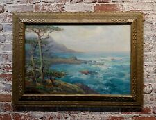 Charles Henry Harmon 1927 Big Sur stunning California Coastline - Oil painting