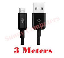 3M Micro USB Data Sync Charger Cable Cord For ZTE Blade S6 Telstra Tough Max T84