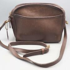 Vintage Coach D8P 9087 Brown Leather Shoulder Cross Body Handbag