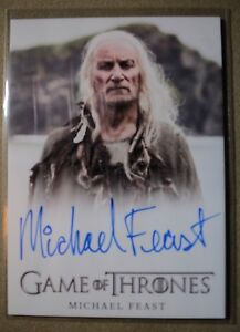 GAME OF THRONES SEASON 7 - TRADING CARD MICHAEL FEAST AUTOGRAPH CARD