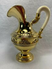 "Gorgeous Italian Gilded 800 Silver 7.5"" Tall Picher Ewer By Fassi Arno"