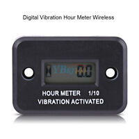 Motorcycle Tach Vibration Activated Hour Meter Wireless For ATV Gas Engine
