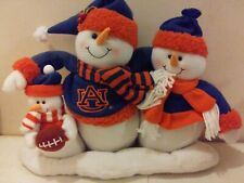 Auburn University Football Tigers Fans Plush Snowman Family Figure Decoration
