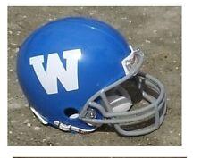 WINNIPEG BLUE BOMBERS 1962-64 CFL THROWBACK MINI FOOTBALL HELMET