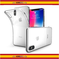 "Funda de Silicona Gel TPU Ultra Thin Slim para Apple iPhone X 5,8"" Transparente"