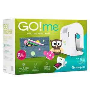 New in box AccuQuilt GO! Me Fabric Cutter Starter Set 55610 cutting mat 2 dies