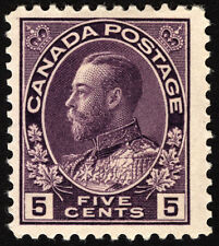 Canada #112 5c Violet 1922 King George V Very Fine Mint Lightly Hinged
