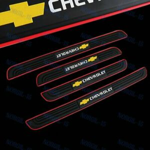 Black Rubber Car Door Scuff Sill Cover Panel Step Protector For Chevrolet X4 New