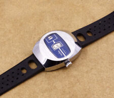 Ruhla Jump Hour Blue Vintage Mechanical Watch New Old Stock