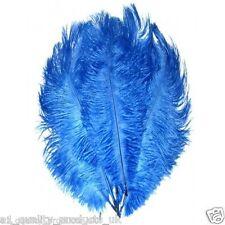 """10 X Large plumas de avestruz -30"""", 20"""", Azul Real 51-76cm de largo, 100% natural teñido"""