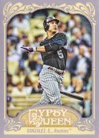 2012 Topps Gypsy Queen Baseball #142A Carlos Gonzalez Colorado Rockies