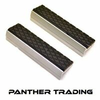 Silverline Pair of Rubber Magnetic Soft Vice Jaw Grips 100mm Protectors - 273221