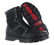 Polo Ralph Lauren Dennison Black Leather Mottled Grain Boots Men's Shoes 11 D
