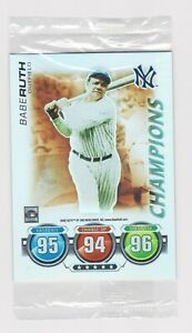BABE RUTH SEALED FOIL 2010 Topps Attax Yankees