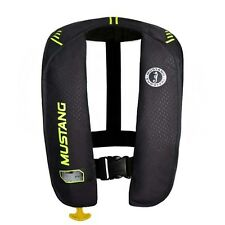 Mustang Survival MIT 100 Auto Activation Inflatable Life Vest - Black/Yellow Gre