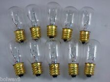 10 pack15 watt Light Bulbs Fits PLUG-IN Scentsy Warmers and Medical equipment