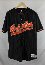 Vintage Baltimore Orioles Black Satin Jersey Sz L