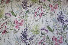 "EDINBURGH WEAVERS CURTAIN FABRIC DESIGN ""Botanical"" SOLD PER METRE CHINTZ"