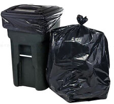 Black Council Bin Liner Garbage Bag Heavy Duty 240L (100 BAGS) 1120mm x 1440mm