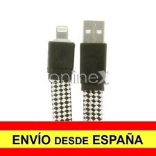 Cable Plano Trenzado Valido para iPhone iPad iPod Carga-Datos Negro 1m a1789
