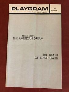 """""""AMERICAN DREAM & DEATH BESSIE SMITH"""" Theatre 1961 NYC Albee Sudie Bond Becher"""