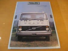 Volvo F6 4x2 Rigid Truck 1979 UK Market Sales Brochure
