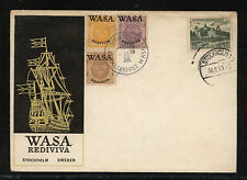 Sweden Wasa overprinted stamps on cachet cover Kl0101