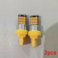 2x T20 W21W 7440 Amber 45SMD LED Turn Signal Light Brake Light Tail Light Canbus