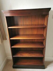 Bookcase mahogany colour solid wood 5 shelf