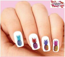Waterslide Pineapple Nail Decals Set of 20 - Colorful Pineapples Assorted