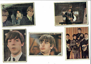 5 card Lot- 1964 TOPPS T.C.G. Beatles Trading Bubble Gum Cards 9 20 30 49 50