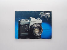 [GOOD] Manuel Notice Mode d'emploi édition française d'origine - Canon FTb QL