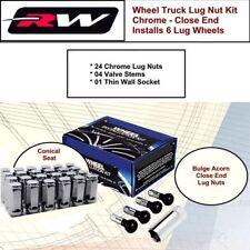 (24) Chrome Lug Nuts M14x1.5 Bulge Conical Seat C1709HLX fit GMC Trucks 99-2019