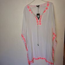 VINCE CAMUTO TROPICAL RAIN EMBROIDERED TUNIC TOP SIZE 1X NWT