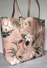 New Kate Spade Mya Arch Place Reversible Tote with Pouch Botanical Pink multi