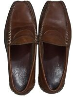 Johnston Murphy Brown Leather Slip On Penny Loafers Dress Shoes Men's 9.5 D