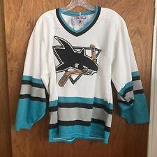 San Jose Sharks Hockey Sweater White 1990s Mens Small