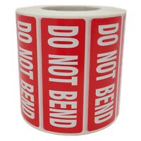 Do Not Bend Printed Parcel Labels - Postage Stickers - Permanet Self Adhesive